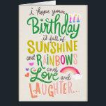 "Rainbows &amp; Sunshine Card<br><div class=""desc"">Rainbows &amp; Sunshine Card</div>"