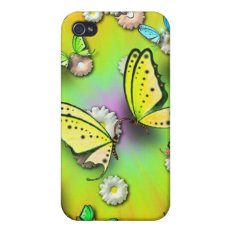 Rainbows Swallowtails and Daisies Speck Case Covers For iPhone 4