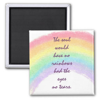 Rainbows & Tears 2 Inch Square Magnet