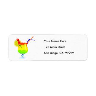 Rainbows Tropical Drink Return Address Labels