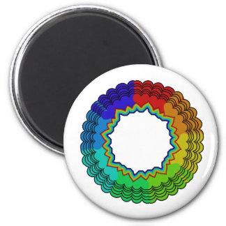 rainbowsheartsflowers2 2 inch round magnet