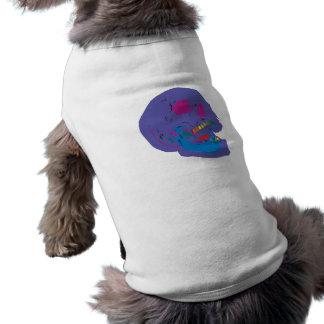 rainbowteeth skull camiseta de perro