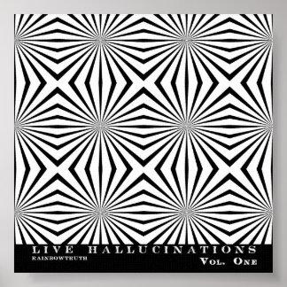 Rainbowtruth Live Hallucinations Optical Illusion Poster