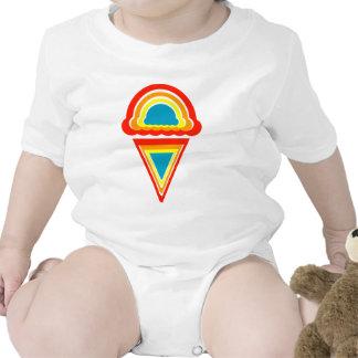 rainbowz retro del helado trajes de bebé