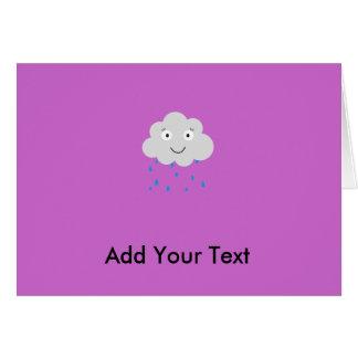 Raincloud Card