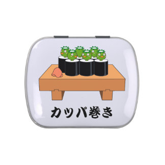 < Raincoat winding > KAPPA-MAKI Jelly Belly Candy Tins