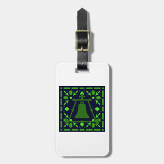 Raincross Blue-Green Stained Glass Luggage Tag