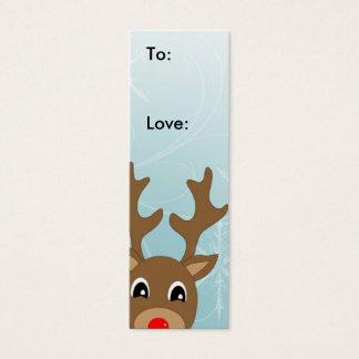 Raindeer Christmas Gift Tag