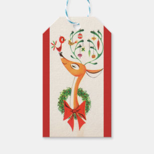 Red funny christmas gift tags