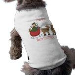 Raindeer todavía lo busca capa del perrito camisetas mascota