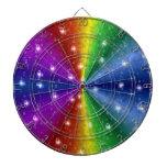 Raindops and Stars on Rainbow Dart Boards