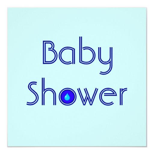 "Raindrop Baby Shower Announcements Invitations 5.25"" Square Invitation Card"