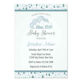 Raindrop Baby Shower Invitation