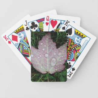 Raindrop Fall Leaf Bicycle Playing Cards