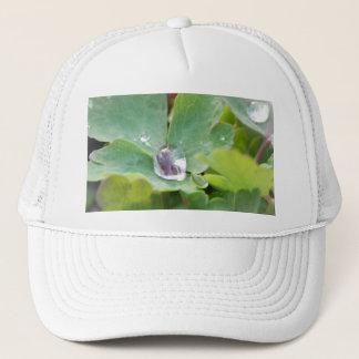 Raindrop on Columbine Leaf Trucker Hat