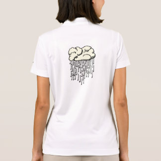Raindrop prelude (falling notes from a cloud) polo shirt