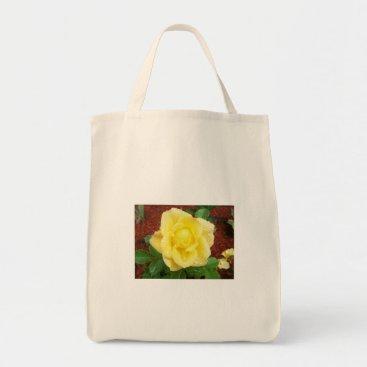 marsha32 Raindrop Rose Grocery Bag