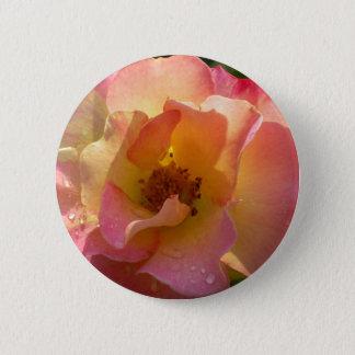 Raindrop Rose Pinback Button