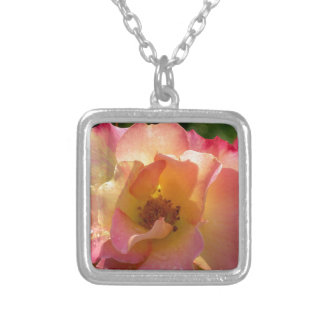 Raindrop Rose Silver Plated Necklace