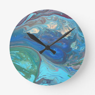 Raindrop Round Clock