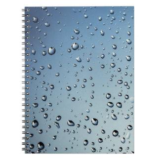 Raindrop Spiral Notebook
