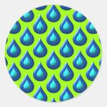 Raindrop Style Design Round Stickers