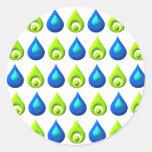 Raindrop Style Pattern Design Sticker