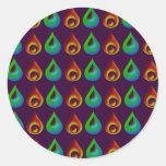 Raindrop Style Pattern Design Stickers