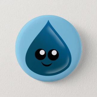 Raindrop, Water drop, Tear drop Pinback Button