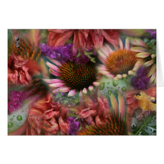 Raindropped Flowers notecard Cards