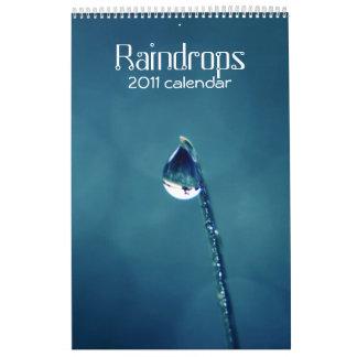 Raindrops 2011 calendar