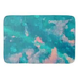 Raindrops Abstract Bathroom Mat