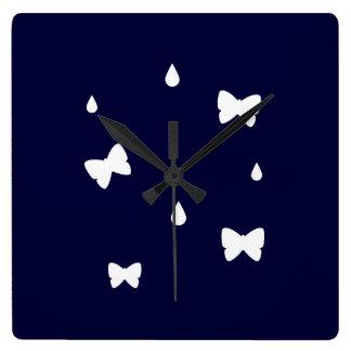 Raindrops and Butterflies Clock