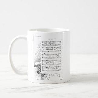 Raindrops and Clouds Vintage Song Coffee Mug