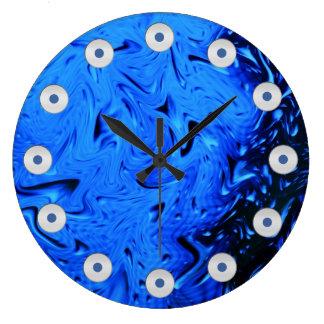 Raindrops by Shirley Taylor Large Clock