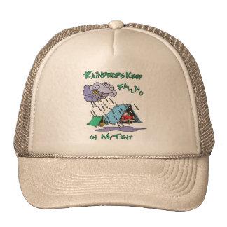 Raindrops Camping Mesh Hats