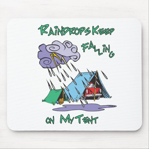 Raindrops Camping Mouse Pads