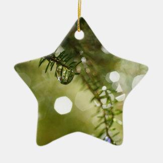 Raindrops Ceramic Ornament
