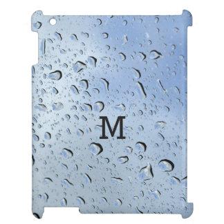 """Raindrops"" custom monogram device cases iPad Covers"