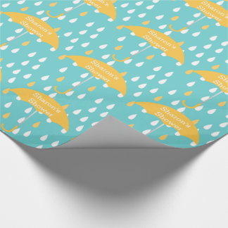 Raindrops Custom Shower Wrapping Paper