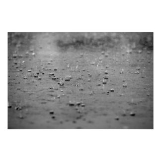 Raindrops in a Storm Poster