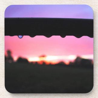 Raindrops In Sunset Coaster