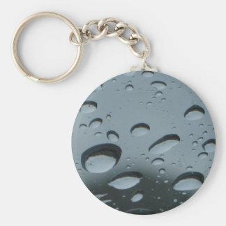 Raindrops Basic Round Button Keychain
