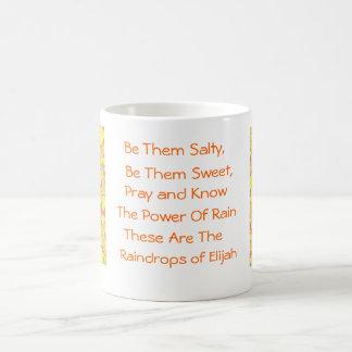 Raindrops of Elijah Classic White Coffee Mug