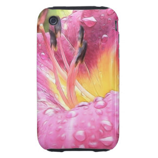 Raindrops On A Delicate Daylily Tough iPhone 3 Cover
