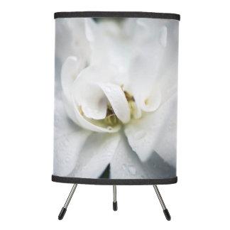 Raindrops on a white rose tripod lamp