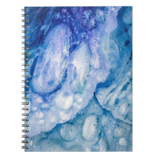 Raindrops on Blue Pedals Spiral Notebook