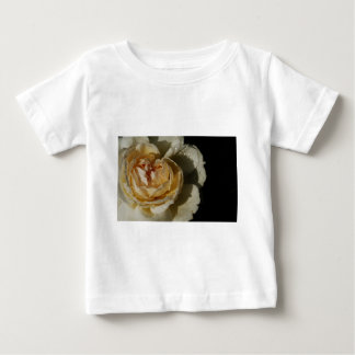 Raindrops on Champagne cream White Rose floral Baby T-Shirt