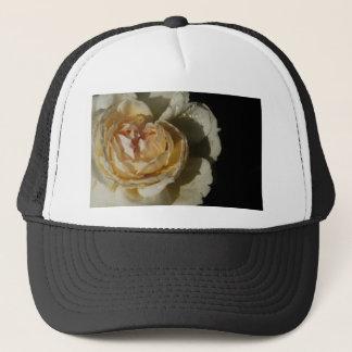 Raindrops on Champagne cream White Rose floral Trucker Hat