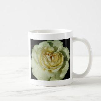 Raindrops on Champagne White Rose floral Coffee Mug